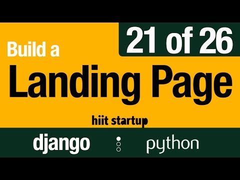 21 of 26 | Unique Slugs for Live Pages | Hiit Startup | Django Tutorial