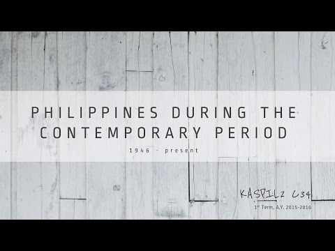 Philippines During the Contemporary Period