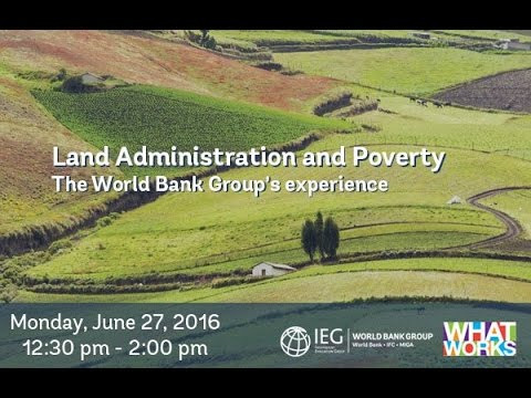 Land Administration Launch Event June 27, 2016