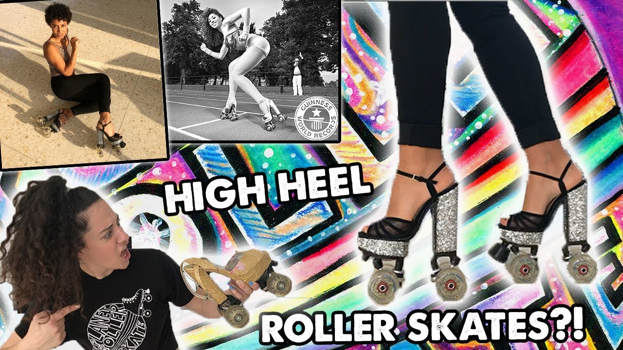 32a48b13cd80 High heel roller skates ! - YouTube