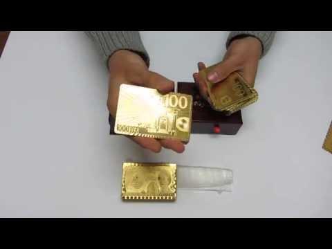 Карты золотые для покера в коробке набор подарочный с сертификатом