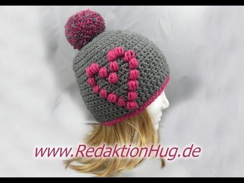 Häkeln Mütze Mit Herz Aus Hatnut Xl 55 Von Pro Lana Youtube