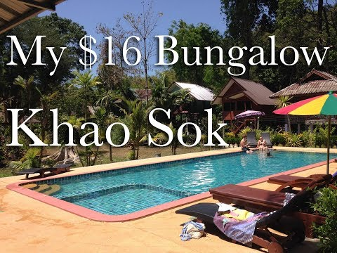 My $16 Bungalow In Khao Sok Village, Thailand - Tree Tops River Huts.