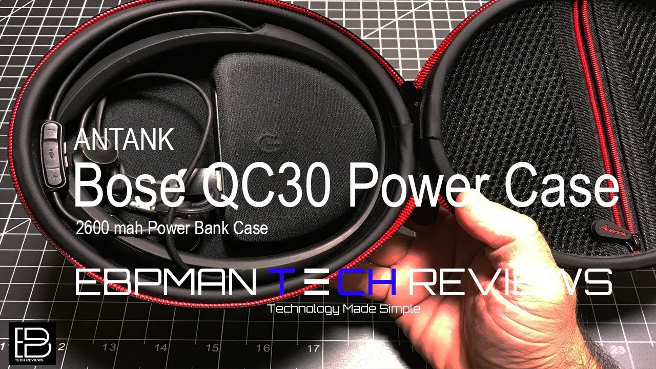 ea195a00ee8 Quiet Control 30 Wireless Headphones Power Case from Antank - YouTube