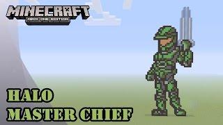 Minecraft: Pixel Art Tutorial and Showcase: Master Chief (Halo)