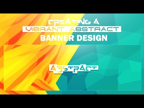 Photoshop Tutorial: Creating Vibrant Abstract Banner Designs
