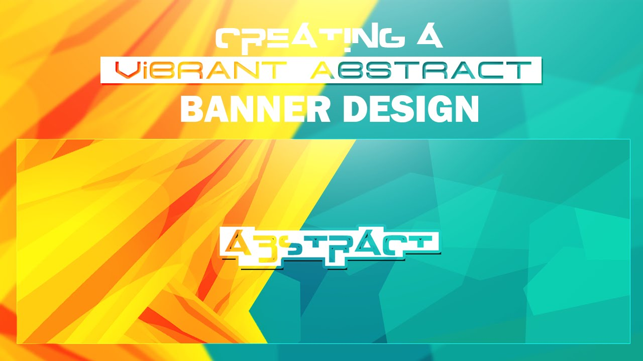 photoshop tutorial  creating vibrant abstract banner