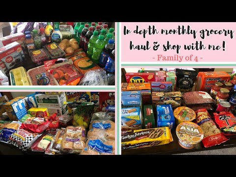 MONTHLY GROCERY SHOP WITH ME FAMILY OF 4 – SALES, COUPONS, STORES, MY SECRETS TO SAVING!