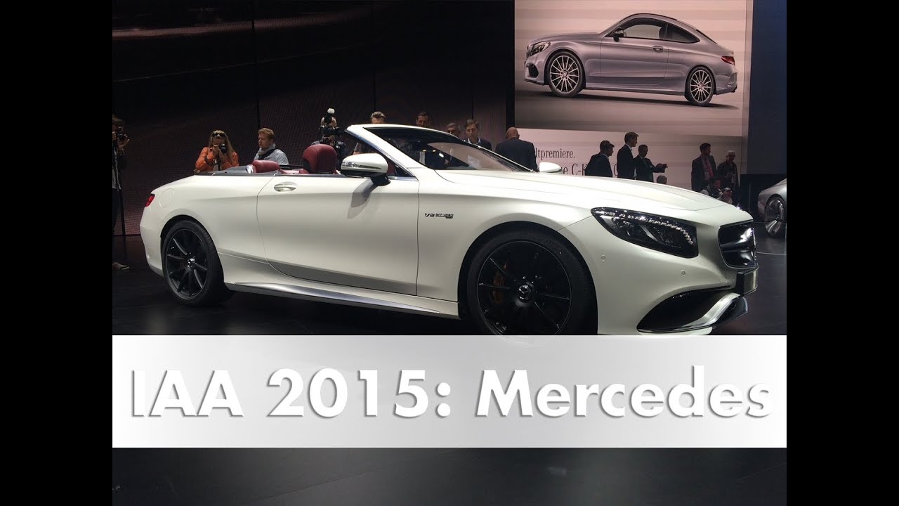 iaa 2015 mercedes weltpremiere s klasse cabriolet c klasse coup youtube. Black Bedroom Furniture Sets. Home Design Ideas