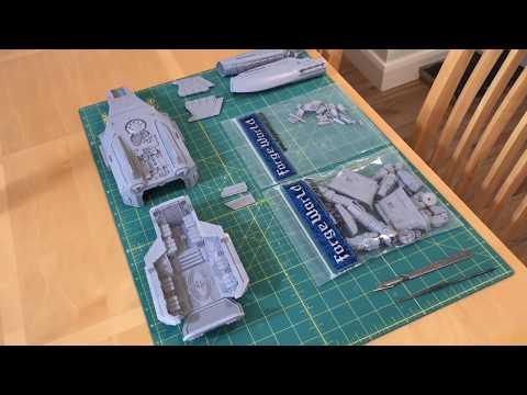Time Lapse Build: Legio Custodes Orion Assault Dropship (Horus