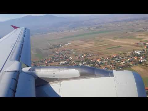 Qatar Airways Airbus A320-200 A7-ADG landing at Skopje Airport from Doha