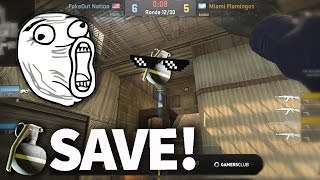 Last Seconds KOBE Save! Grenade For the Win! - CS:GO Best Moments #2 (Pro Plays, Clutches, Kills)