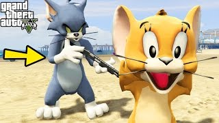"GTA 5 Mods ""TOM AND JERRY MOD"" (GTA 5 Tom & Jerry Cartoon Game, GTA 5 Funny Moments Compilation)"