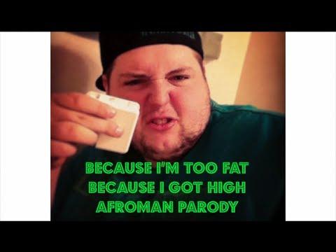 Because I'm Too Fat - Because I Got High Afroman Parody