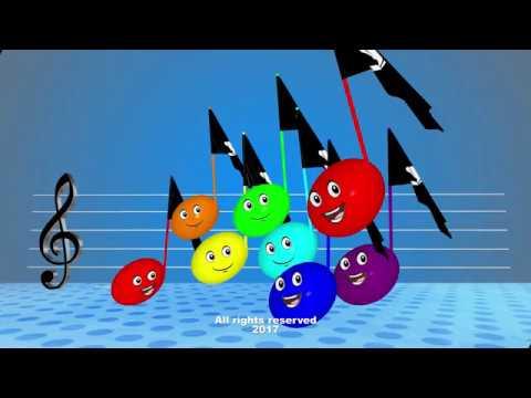 С major diatonic scale for children. Music Theory.