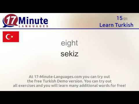 Learn the 30 most important words in Turkish!