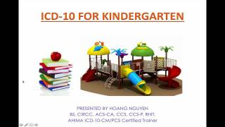 ICD-10 for kindergarten - Lesson 1