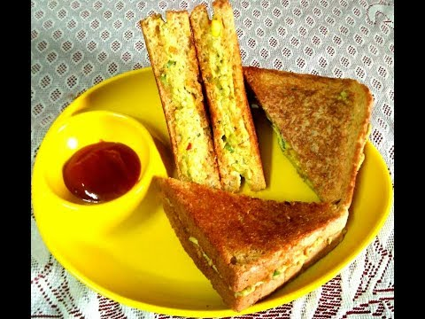 5 minutes Paneer sandwich recipe /Protein Power pack  Paneer sandwich from Aarchi's kitchen