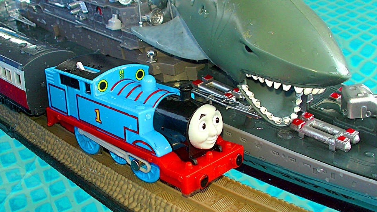 Epic Thomas The Tank Trackmaster Pool Tracks Russian Navy Ship Attack Crash u Accidents Fun YouTube