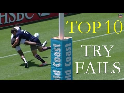 Top 10 - Rugby Try Fails