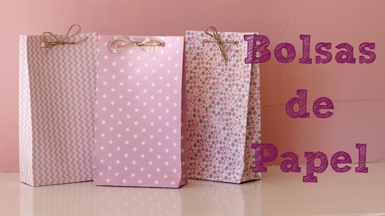 b782e1aed Bolsas de papel para regalo - DIY Manualidades fáciles - YouTube