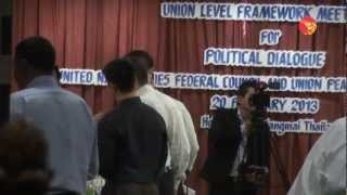 First talk between UNFC & Government Delegation
