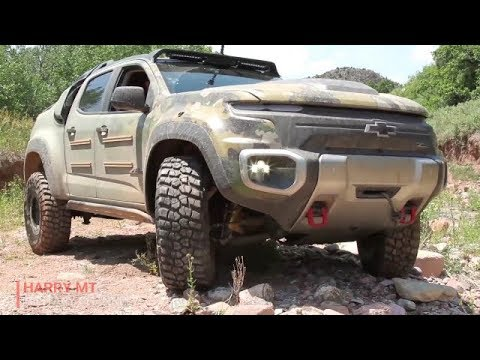 The Monster hydrogen fuel cell truck - Chevrolet Colorado ZH2 was developed with the U.S. Army Tank