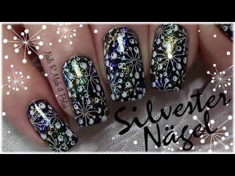 schneeflocken-silvester-stamping-nageldesign-/-snowflakes-new-year's-nail-art-design