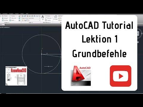 AutoCAD 2D Tutorial Deutsch Lektion 1 Grundbefehle
