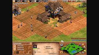 Age of Empires 2 The Conquerors: Tutorial on Beating the Hardest Computer and Fast Castle Narrated