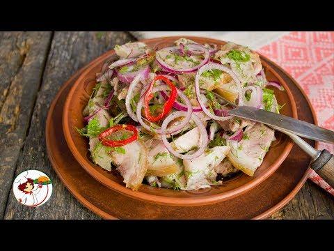 Деревенский мясной салат из трав в маринаде. Невероятный вкус!