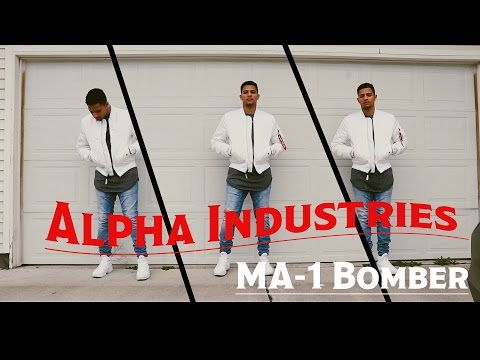 White Alpha Industries MA-1 Bomber Slim Fit Jacket Review