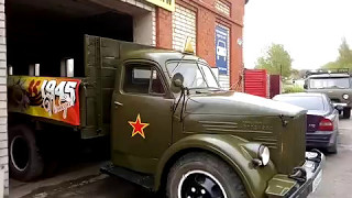 2017-yilda G'alaba Kuniga ta'mirlash so'ng GAZ-51 chiqish.