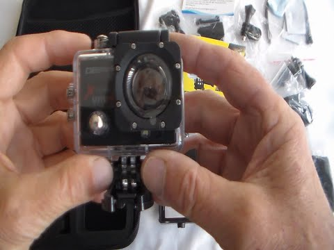 Unboxing and Using the Campark 4k HD Sports Action with Test Clips