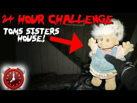 24 HOUR OVERNIGHT CHALLENGE IN TOMS SISTERS HOUSE! | MOE SARGI