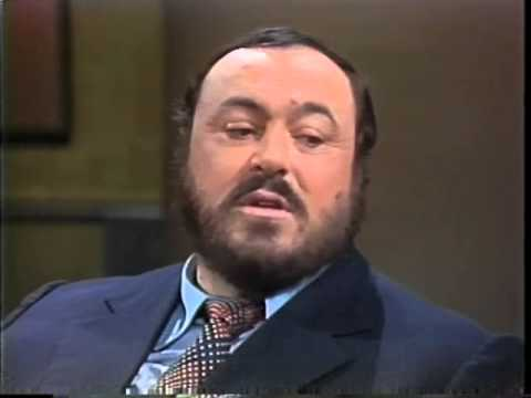 Luciano Pavarotti on Late Night, October 26, 1982