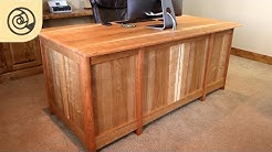 Executive Desk With Wireless Charging and Hidden Drawer