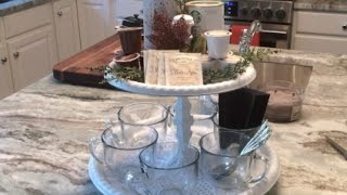 DIY Dollar Tree Holiday Beverage Stand How-to