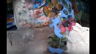 Aula vaso de PET vazado – Flor