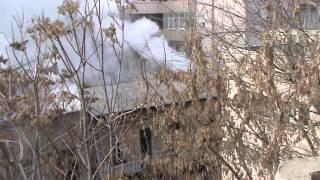 Incendiu pe Pache Protopoepscu, sector 2, Bucuresti. Feb 18, 2013, orele 12:45