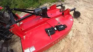 Youtube - KIOTI DK4210SEHC W: 12' TITAN FLEX WING CUTTER