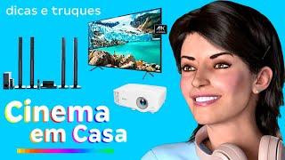 Como TRANSFORMAR a sua CASA em um CINEMA? Dicas e truques acessíveis! | Canal da Lu - Magalu