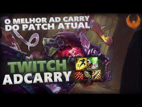 O MELHOR AD CARRY DO PATCH ATUAL - TWITCH ADC GAMEPLAY [PT-BR]