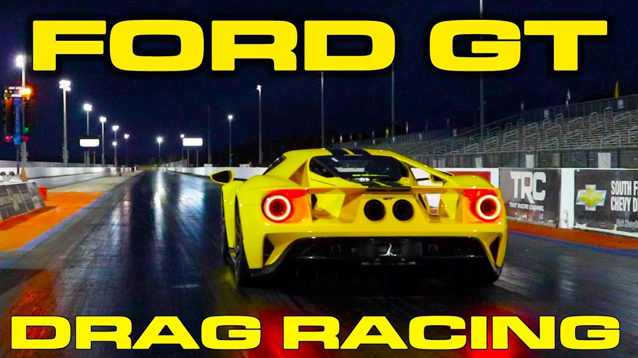 Ford Gt   Mile Drag Racing With Vbox Data Lamborghini Aventador Roll Race