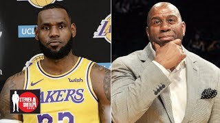 LeBron won't win a title with the Lakers if Magic Johnson doesn't deliver |  Stephen A  Smith Show