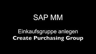 SAP MM - Satın alma Grubu Oluşturma