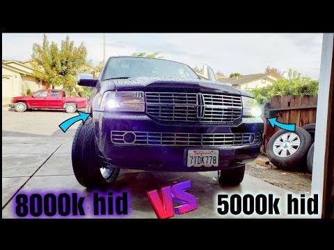 5000k Vs 8000k Hid Comparison 2007 Lincoln Navigator- Hid Headlights Bulbs
