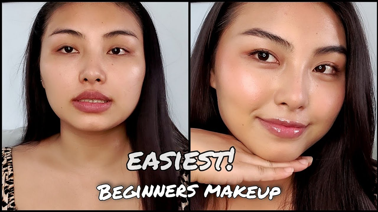 MAKE UP FOR BEGINNERS - EASIEST WAY!  NO BRUSH/BEAUTY BLENDER USED|| LESS PRODUCTS!!!😍 || Pankhuri