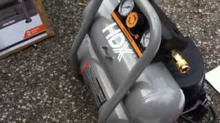 how to hdx 2 gal portable electric air compressor