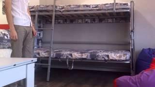 диван - 2-х-ярусная кровать — мебель-трансформер в Геленджике(трансформируемая детская мебель: из дивана - в двухярусную детскую кровать; из 2-х кроватей - в диван., 2014-02-10T08:38:14.000Z)